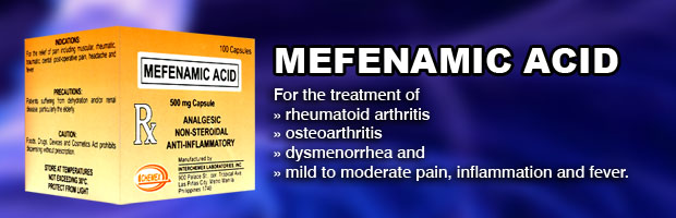 Drotaverine Mefenamic Acid Indications